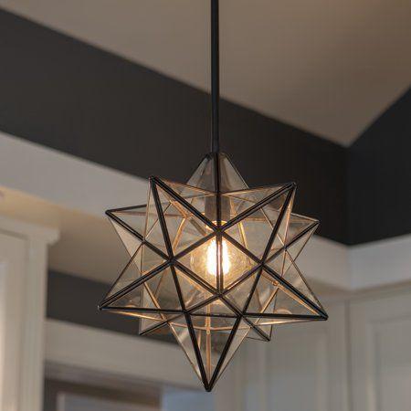 Star Shaped One Light Pendant Walmart Com Entryway Light Fixtures Bedroom Light Fixtures Star Lights On Ceiling