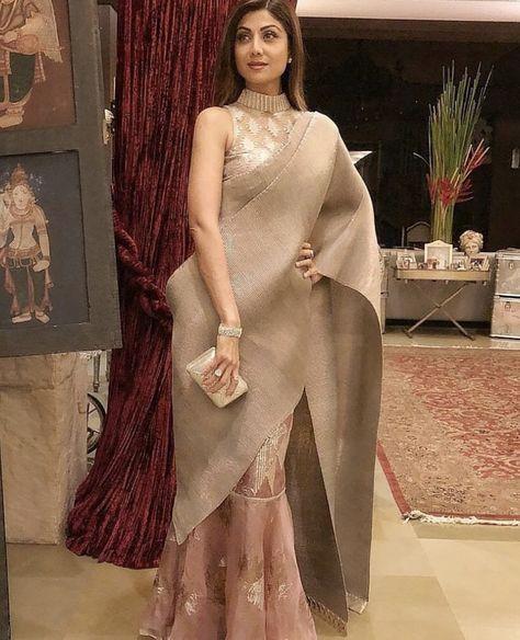 Saree draping styles - Shilpa Shetty Kundra's Eternal Love For Sarees