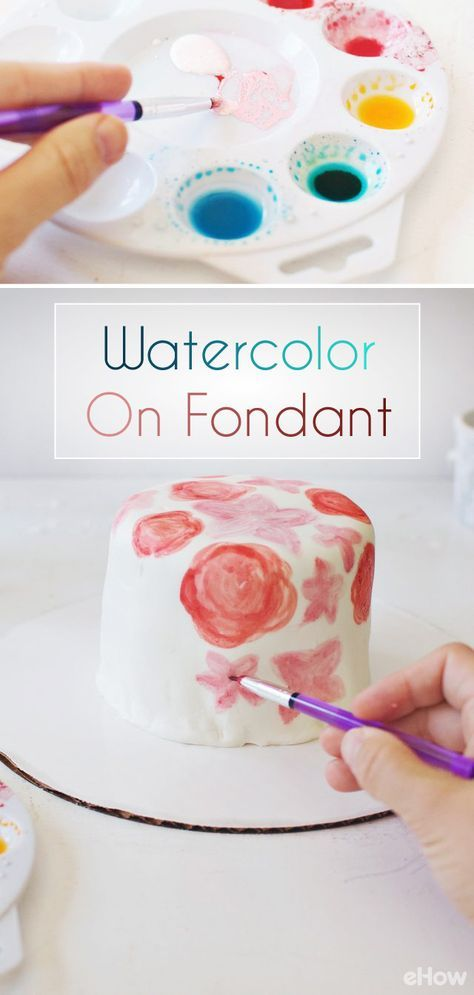 Use Beautiful Watercolors To Paint On Fondant Cake White Fondant