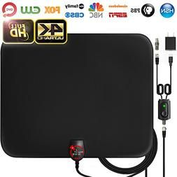 300 Miles Range Digital TV Antenna 1080P Amplified HDTV Booster USB Power HD 4K