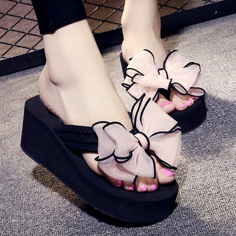 ab5e788c5 New 2016 Women'S Ultra High Heels Beach Slippers Summer Wedges ...
