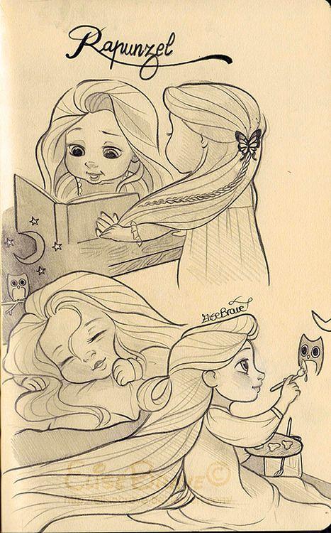 Baby Rapunzel by EliseBrave