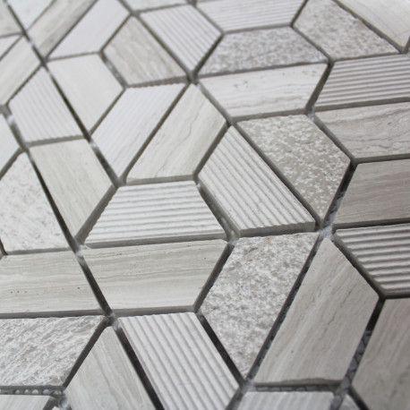 Mosaique Sol Et Mur Wooden Hexagone Marble Carrelage Mosaique