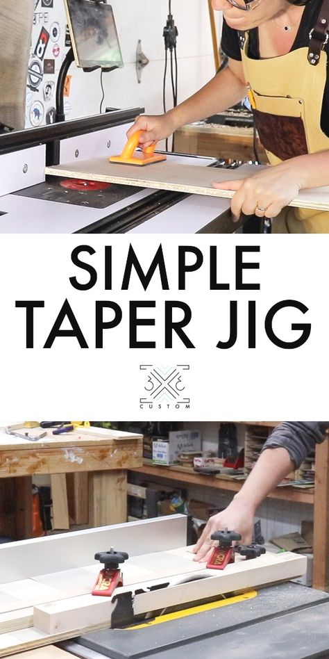Taper Jig With Images Taper Jig Jig Woodworking Jigs