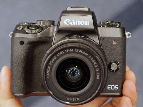[拡大画像]キヤノンミラーレス初、デュアルピクセルCMOS AF搭載「EOS M5」。1080/60p動画も(1/8) - AV Watch Watch