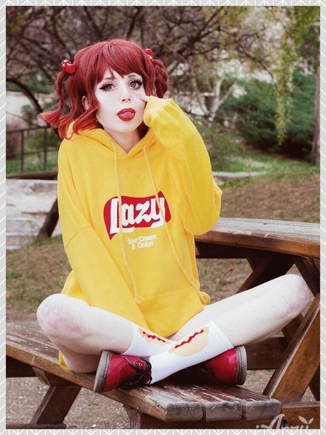 You're lazy. I'm lazy. We're all lazy here. Pass the chips. Fit: Oversized Material: 100% Cotton Length: 64-70cm / 25.2-27.6in Sleeve Length: 60-66cm / 23.6-26in (❀◦◡◦)