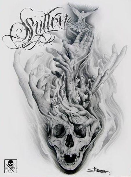 Sullen Art Collective Clothing T-Shirt Piracy Tattoo Pirat Skull Schädel
