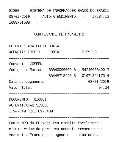 Pin De Ana Lucia Braga Em Contas Pagas Enviar Sms Mensagem Para