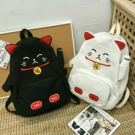Details about  /Cute Cat BackPack /& School Bag