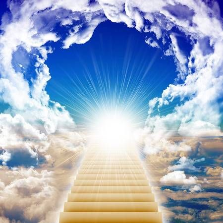 Stairway Leading Up To Bright Light With Clouds Heaven Concept Heaven Wallpaper Heaven Painting Heaven Artwork