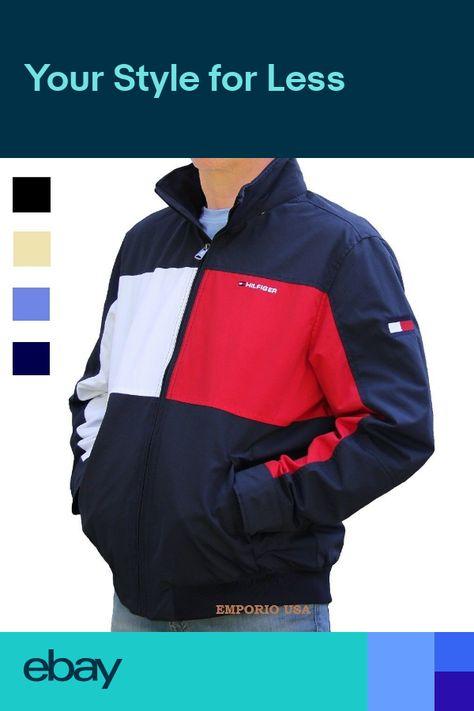 TOMMY HILFIGER Mens Yacht Jacket Water Stop Windbreaker