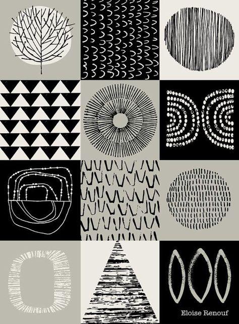 Blockwork Black aprire edizione A3 giclee print di EloiseRenouf