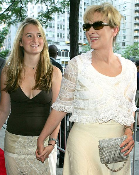 Meryl Streep arrives with daughter Grace Gummer at the world premiere of her film The Manchurian Candidate in New York on July