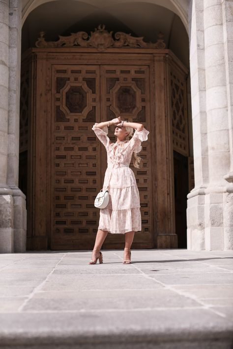 What to wear in Madrid   How To Spend 48 Hours in Madrid   Outfit Diaries   #fashion #ootd #fashioninspiration #style #ruffletrend #coldshoulder #travel #whatiwore #trends #summer2017 #madrid #traveldiaries #missselfridge #hot #weather #exploringmadrid