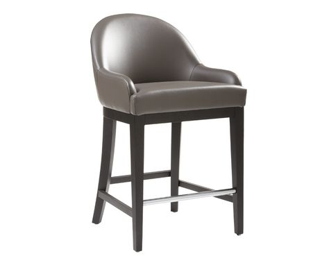 HAVEN COUNTER STOOL - GREY LEATHER - Counter Stools - Bar - Products