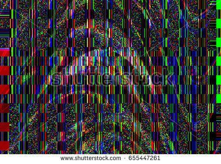Glitch Psychedelic Background Old Tv Screen Error Digital Pixel Noise Abstract Design Broken Pixels Glitch Television Signal Fail Glitch Glitch Tv Old Tv