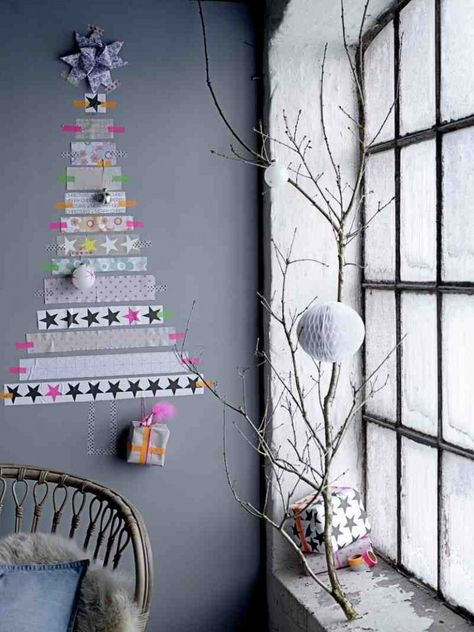 So many possibilities - craft paper and paint whatever I want. -- Kersttrend 2013