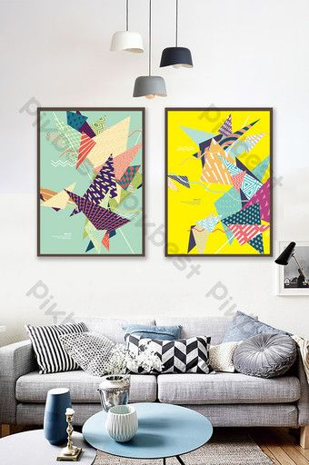Simple Geometric Color Creative Pattern Living Room Study Decoration Painting Decors 3d Models Ai Free Download Pikbest Decorative Painting Colorful Eclectic Living Room Picture Frame Designs Minimalist room color paint download