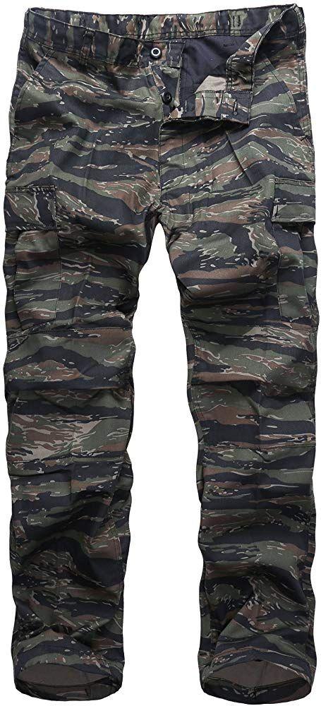 UK Men Shorts Knee Length Military Cargo Combat Camo Army Long Printing Pants