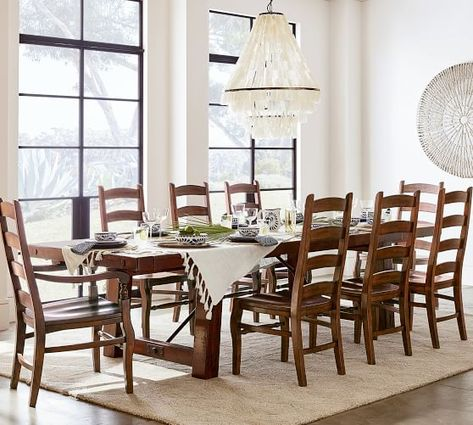 Benchwright Extending Dining Table Rustic Mahogany Dining Table