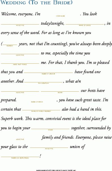 Maid of Honor Speech Quotes Pinterest Maids, Wedding and - speech format