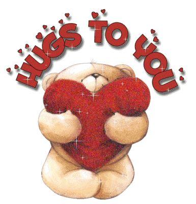 hugs to you glitter teddy bear