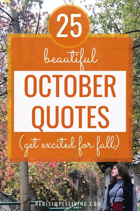 Happy October Quotes To Welcome Fall