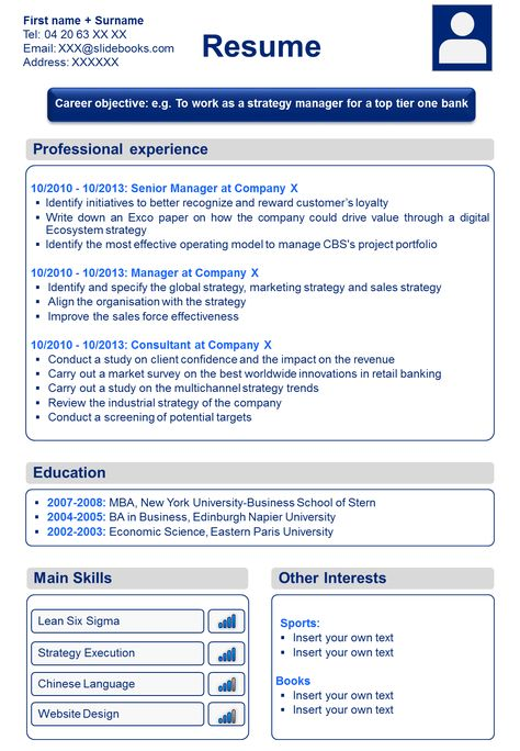 8 best professional cv template resume template in powerpoint resume template with picture insert - Resume Template With Picture Insert