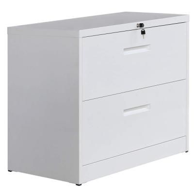 Harper Bright Designs White Lateral File Cabinet Lockable Heavy Duty Metal File Cabinet With 2 Drawer Wf187577kaa The Home Depot In 2020 Filing Cabinet Metal Filing Cabinet Lateral File Cabinet