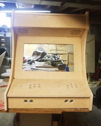 Two Player Desktop Arcade Cnc Project Cnc Projects Projects Diy Storage Cabinets