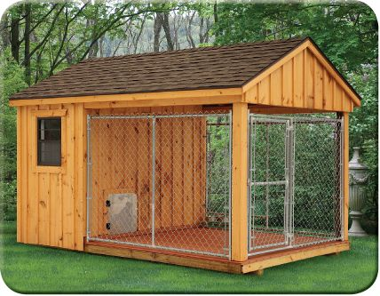 Outdoor Dog Kennels - Stoltzfus Structures | dog houses ...
