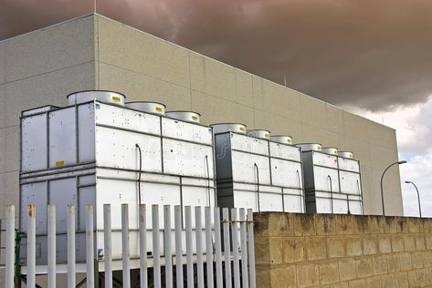 Industrial Cooling Towers Used For Refrigeration Purposes In A