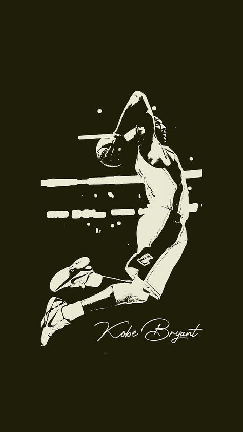 Kobe Bryant Black and White NBA Android Mobile Wallpapers ⋆ Traxzee