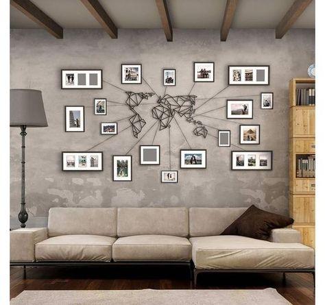 Une Idée Originale Pour La Décoration Murale Dans Le Salon Avec Des Photos  De Vos Voyages