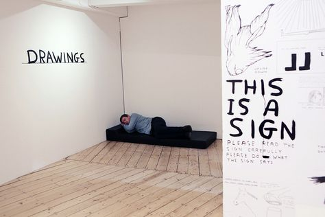The napping bench at David Shrigley exhibition, Cornerhouse Manchester, via Flickr