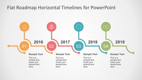 Flat Timelines PowerPoint Templates Business presentation and - sample powerpoint timeline