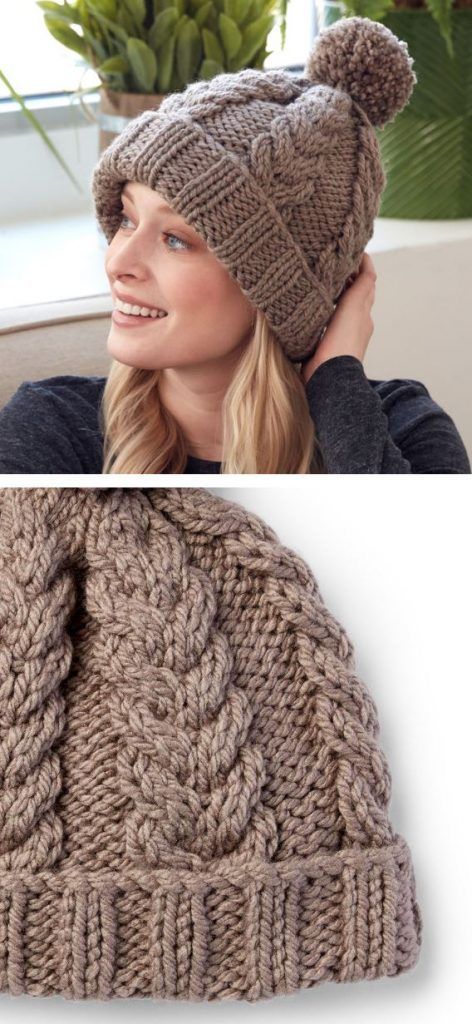 Free Bulky Yarn Hat Patterns To Knit For This Winter Knitting Patterns Free Hats Cable Knit Hat Pattern Knit Beanie Pattern