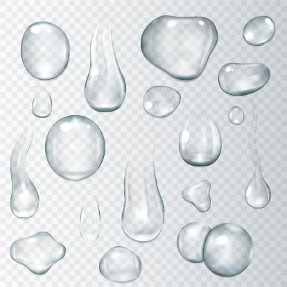 Transparent Water Droplets, Water Clipart, Water, Drop PNG