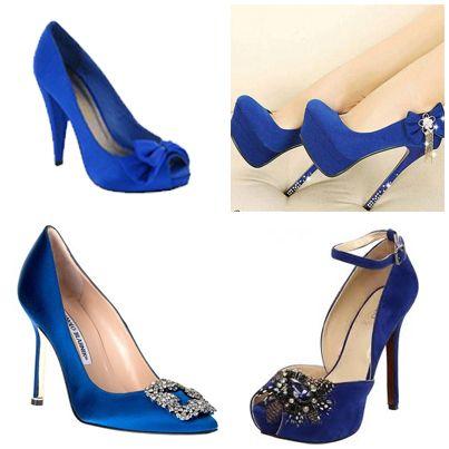 98a07df468b Zapatos de novia color azul rey