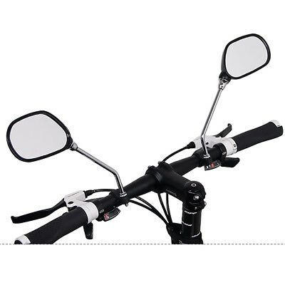 1 Pair Cycling Bike Bicycle Handlebar Rear View Mirror Flexible Safety with Base