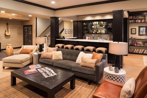 How To Create A Cozy Basement From basement family rooms to home theaters, it's time you had a space to relax! Basement Family Rooms, Cozy Basement, Basement Layout, Modern Basement, Basement Bedrooms, Basement Bathroom, Basement Walls, Rustic Basement, Basement Finishing