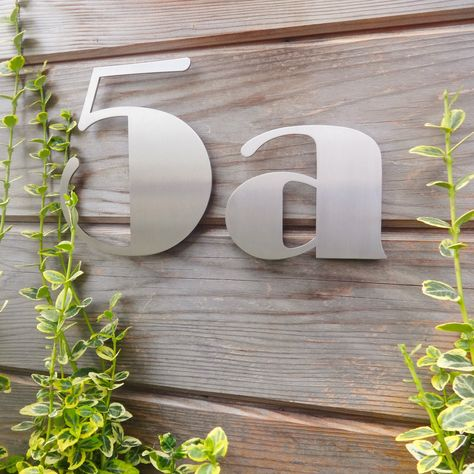 Individual Stainless Steel House Numbers With A Hidden Fixing System Suitable For Masonry Or Wood Art Deco Hou Art Deco Home House Numbers Stainless Steel Art