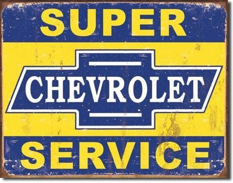 Chevrolet Retro Tin Signs Tin Signs Wall Signs