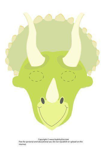 Druckbare Dinosaurier Masken Vorlagen Kostenlos Itsy Bitsy Fun Dinosaurier Basteln Dinosaurier Party Dinosaurier
