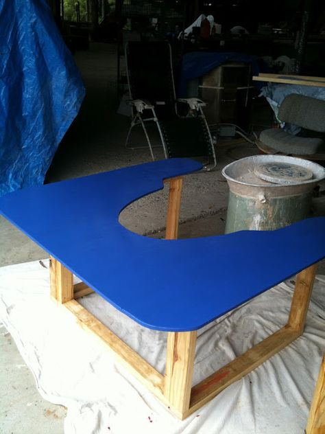 A Wheel Table: Setting Up Your Pottery Studio - A Love Affair With Clay | A Love Affair With Clay