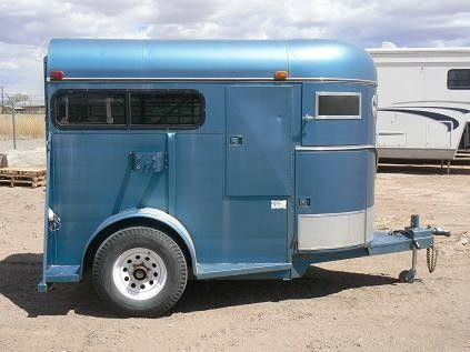 Blue is a neat color for a horse trailer paint job