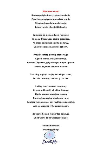 Wiersz Na Dzień Mamy I Taty Sklep Pobierz Za Darmo