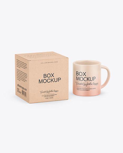Download Kraft Box W Matte Mug Mockup In Box Mockups On Yellow Images Object Mockups In 2021 Box Mockup Packaging Mockup Kraft Boxes