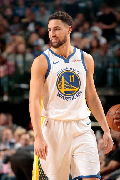 Klay Thompson Of The Golden State Warriors Looks On During The Game Klay Thompson Golden State Golden State Warriors