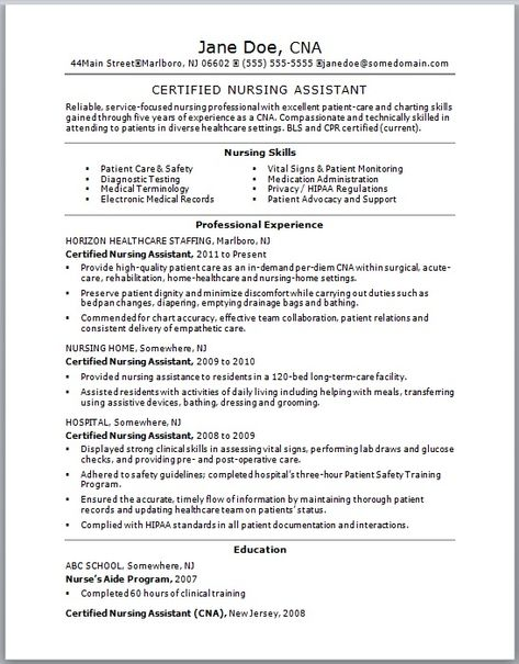 Sample Nursing Resume - New Graduate Nurse nursing school - records specialist sample resume